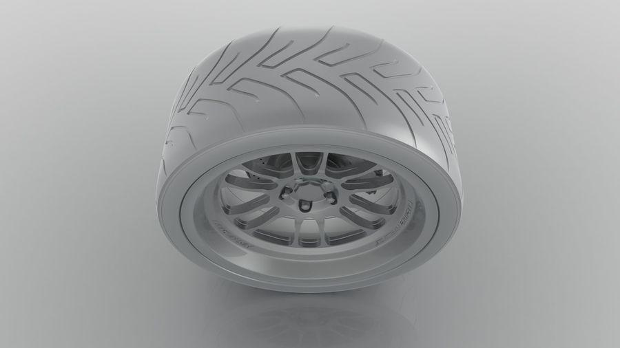 Cosmis Racing xt206r i Yokohama ADVAN a048 royalty-free 3d model - Preview no. 7