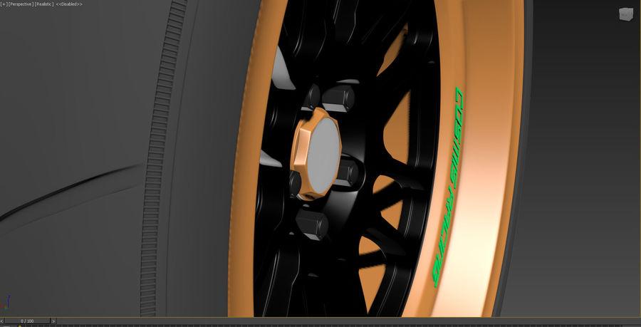 Cosmis Racing xt206r i Yokohama ADVAN a048 royalty-free 3d model - Preview no. 13