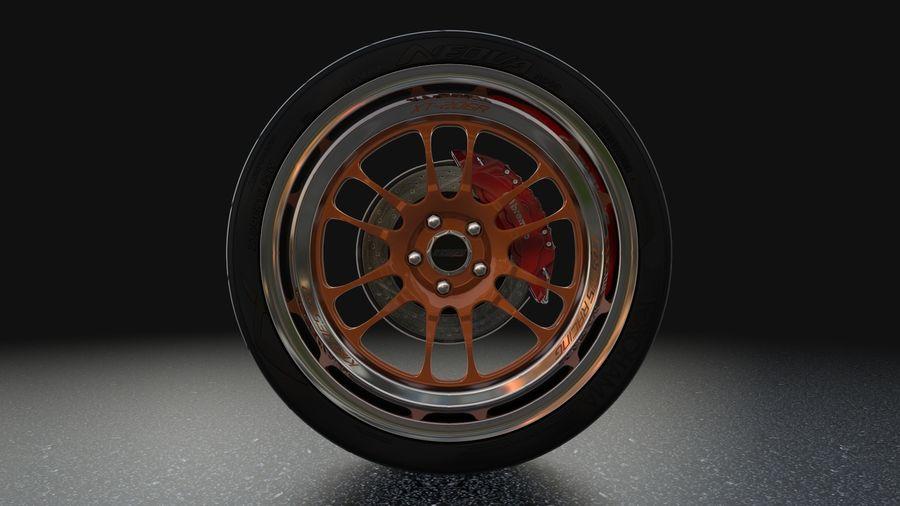 Cosmis Racing xt206r i Yokohama ADVAN a048 royalty-free 3d model - Preview no. 3