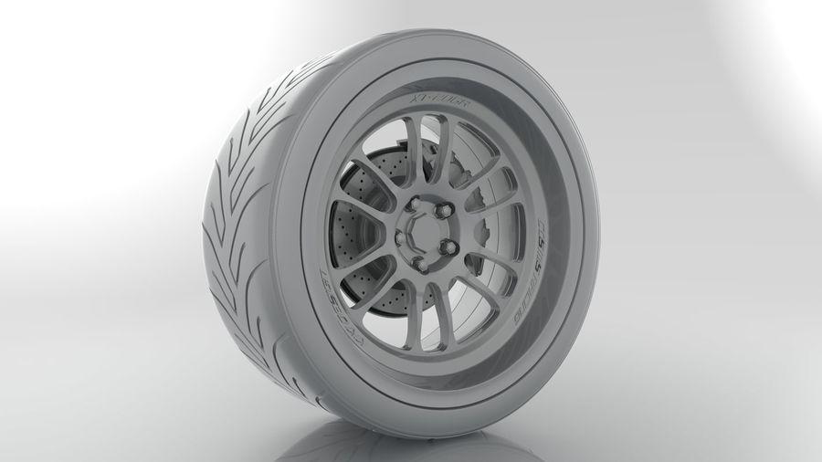 Cosmis Racing xt206r i Yokohama ADVAN a048 royalty-free 3d model - Preview no. 6
