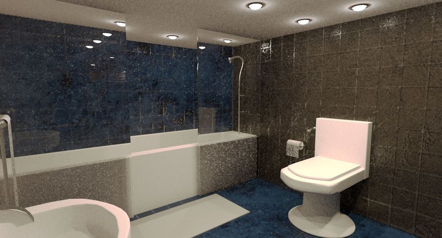 Hotel Room Night Scene royalty-free 3d model - Preview no. 5
