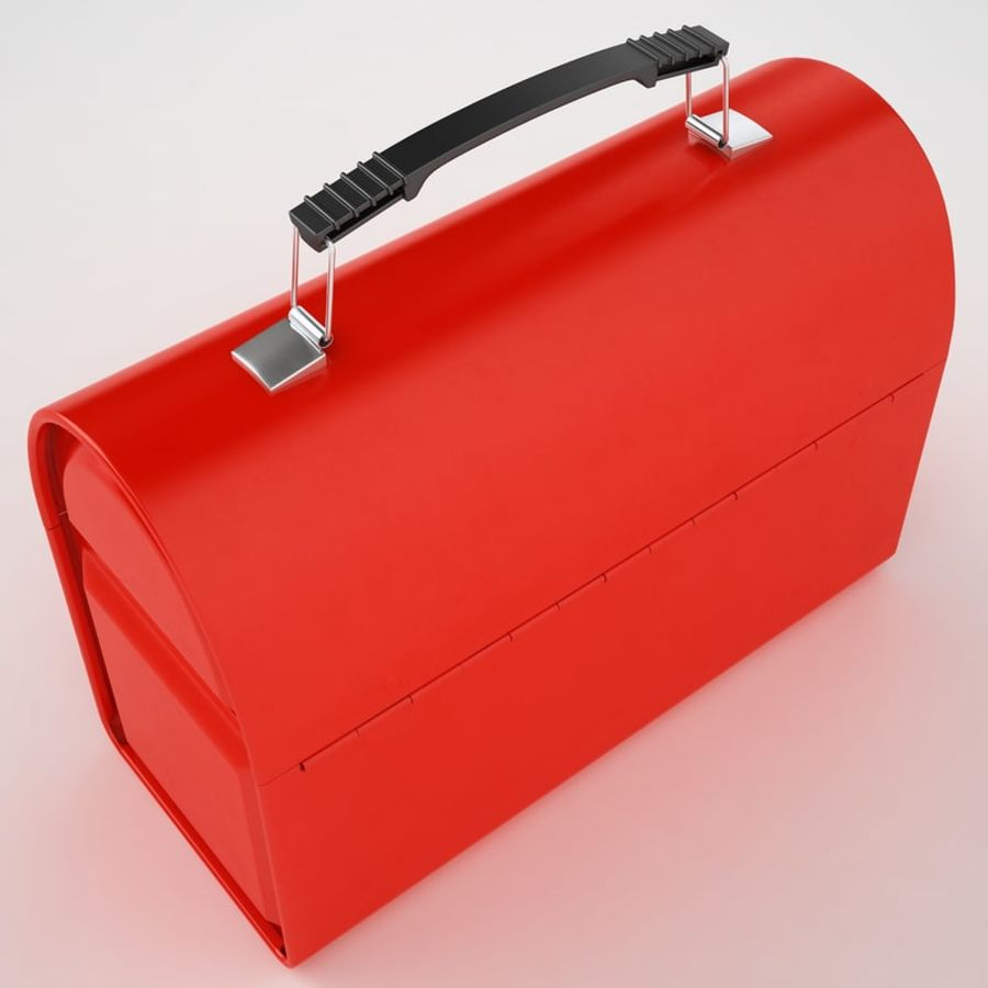 Metal Lunch Box 01 royalty-free 3d model - Preview no. 11