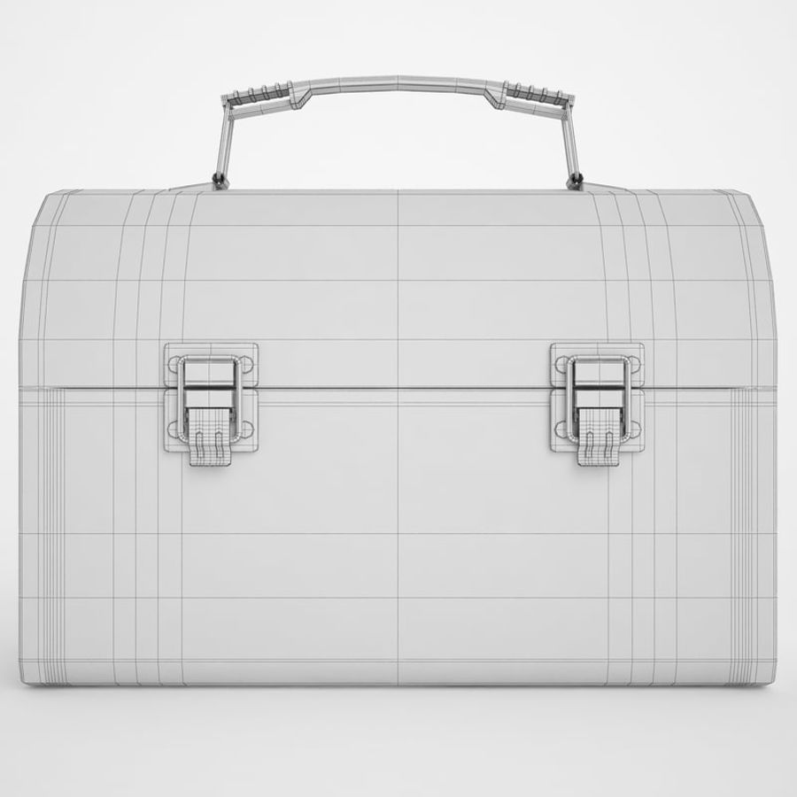 Metal Lunch Box 01 royalty-free 3d model - Preview no. 6