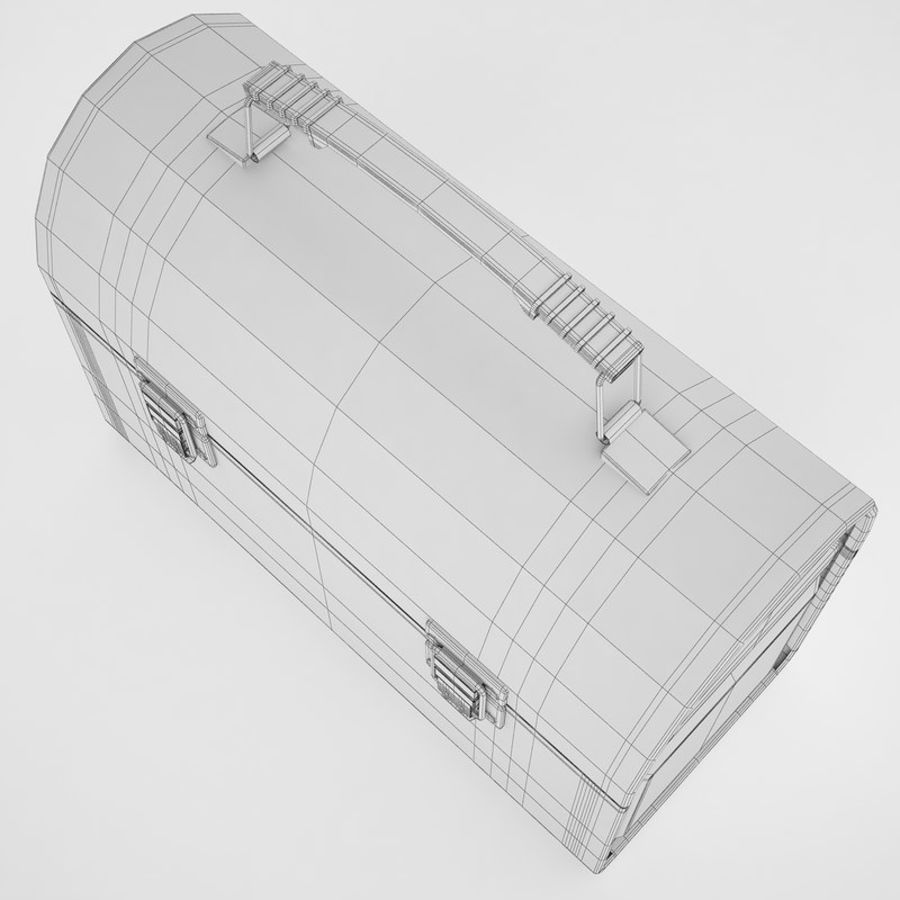 Metal Lunch Box 01 royalty-free 3d model - Preview no. 10