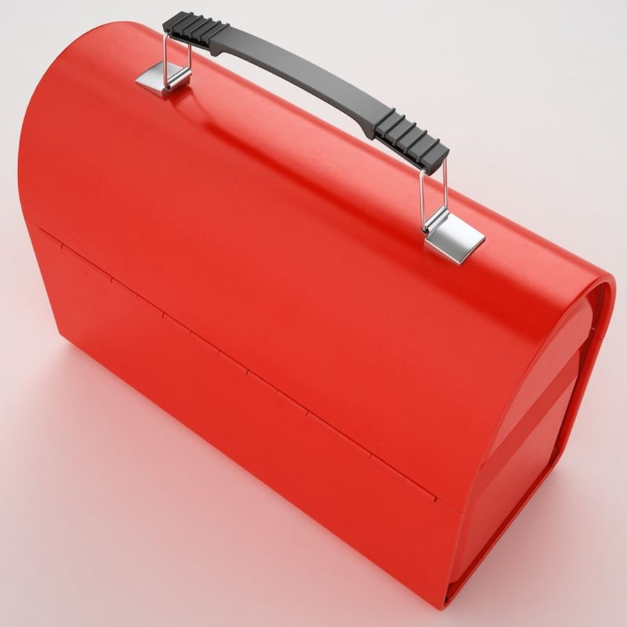 Metal Lunch Box 01 royalty-free 3d model - Preview no. 13