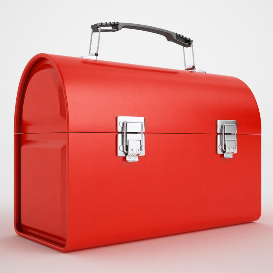 Metal Lunch Box 01 royalty-free 3d model - Preview no. 2