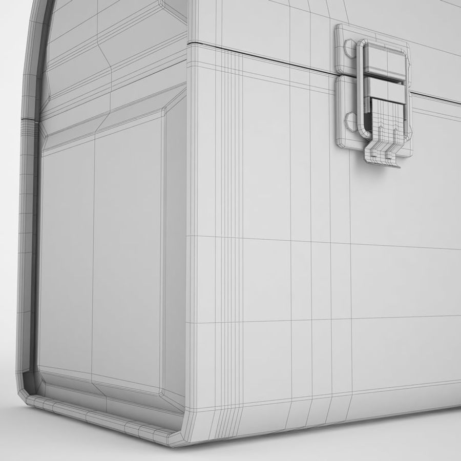 Metal Lunch Box 01 royalty-free 3d model - Preview no. 18