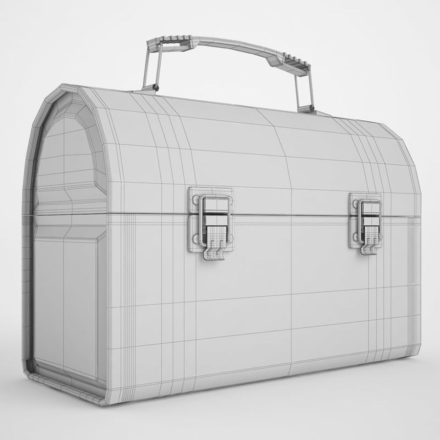 Metal Lunch Box 01 royalty-free 3d model - Preview no. 4