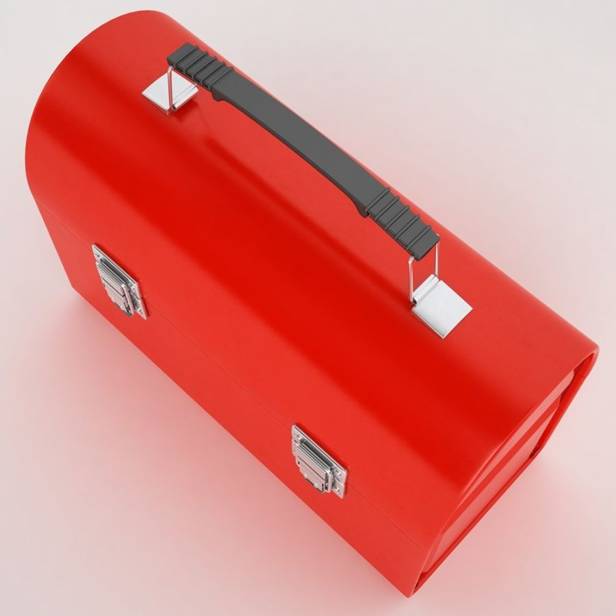 Metal Lunch Box 01 royalty-free 3d model - Preview no. 9