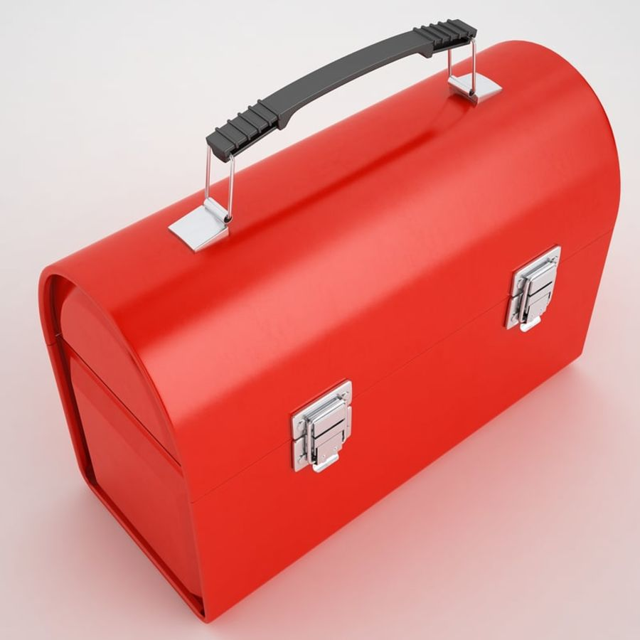 Metal Lunch Box 01 royalty-free 3d model - Preview no. 7