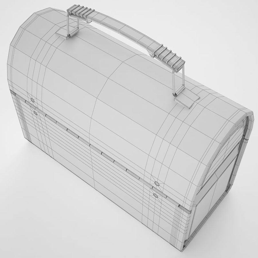 Metal Lunch Box 01 royalty-free 3d model - Preview no. 14