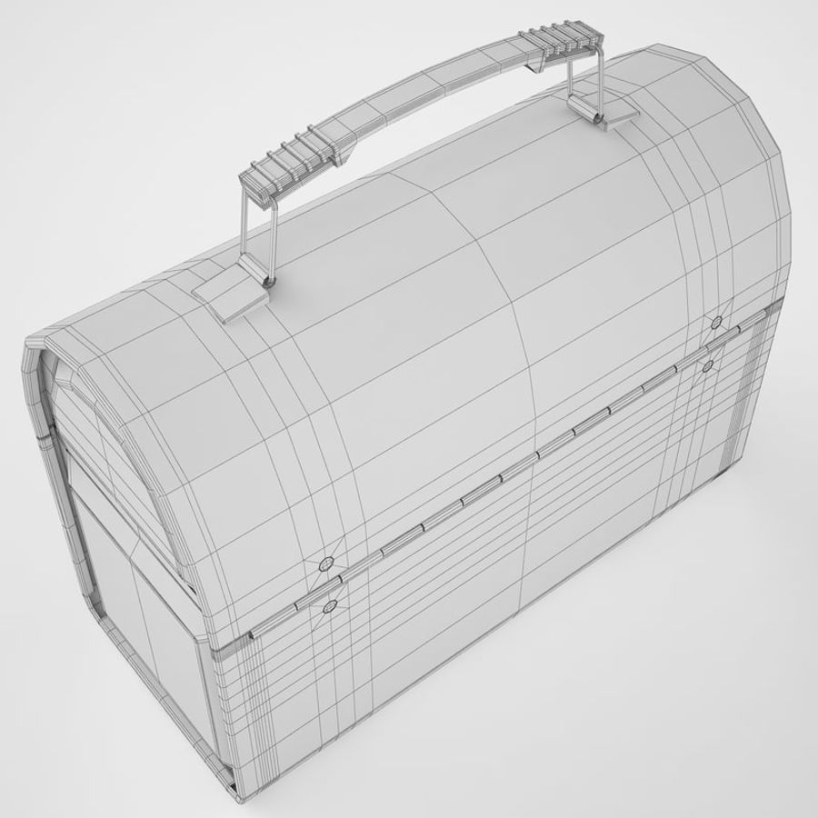 Metal Lunch Box 01 royalty-free 3d model - Preview no. 12