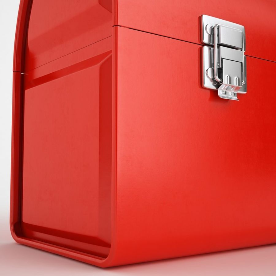 Metal Lunch Box 01 royalty-free 3d model - Preview no. 17