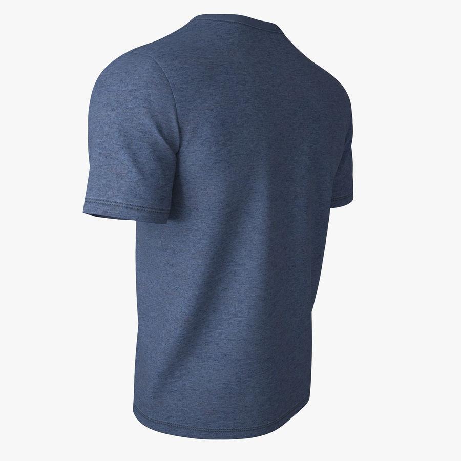 T Shirt V2 (niebieski) royalty-free 3d model - Preview no. 6