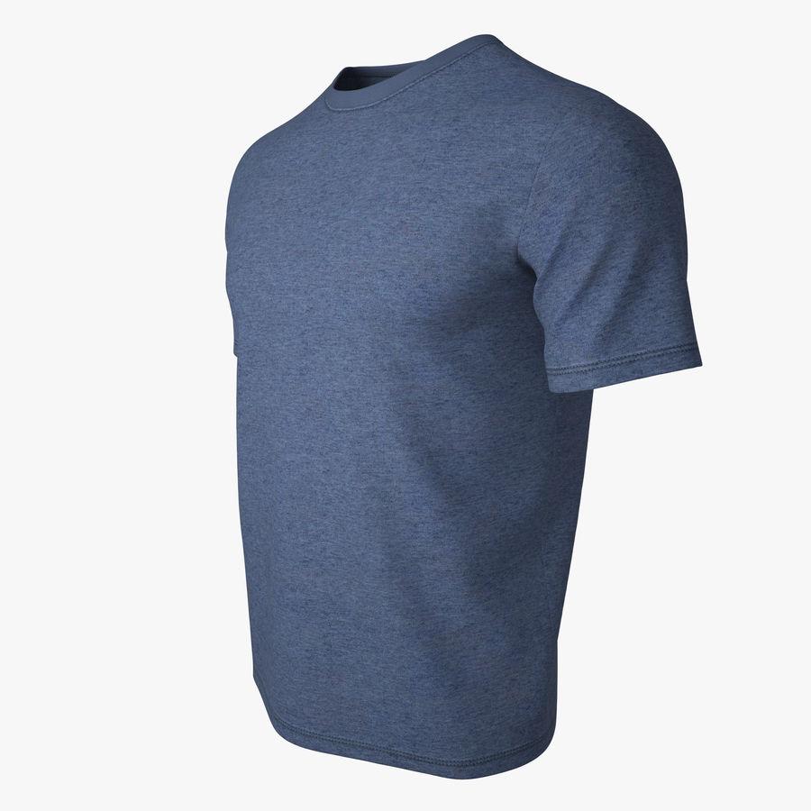 T Shirt V2 (niebieski) royalty-free 3d model - Preview no. 8