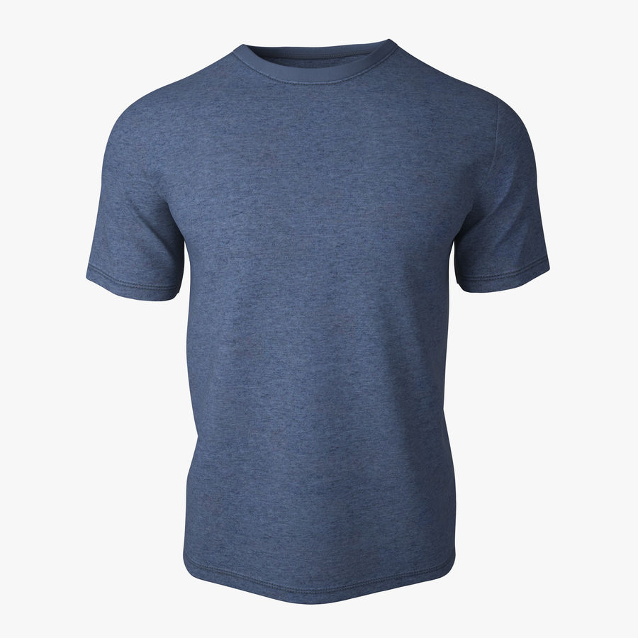 T Shirt V2 (niebieski) royalty-free 3d model - Preview no. 1