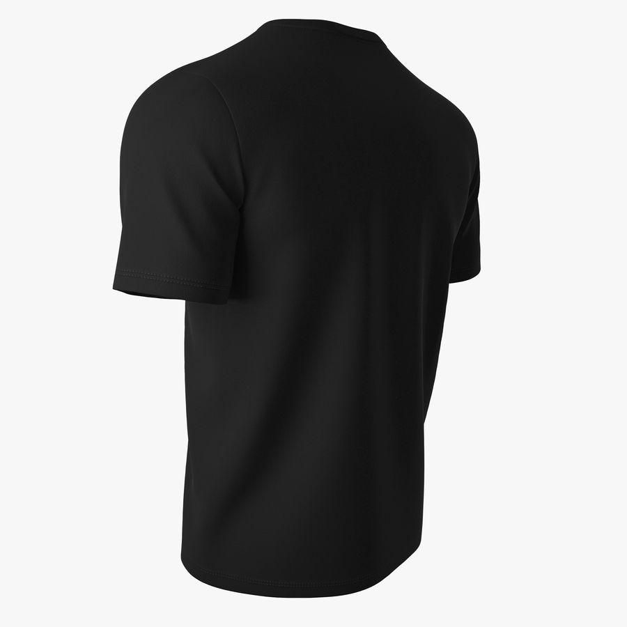T恤V2(黑色) royalty-free 3d model - Preview no. 6