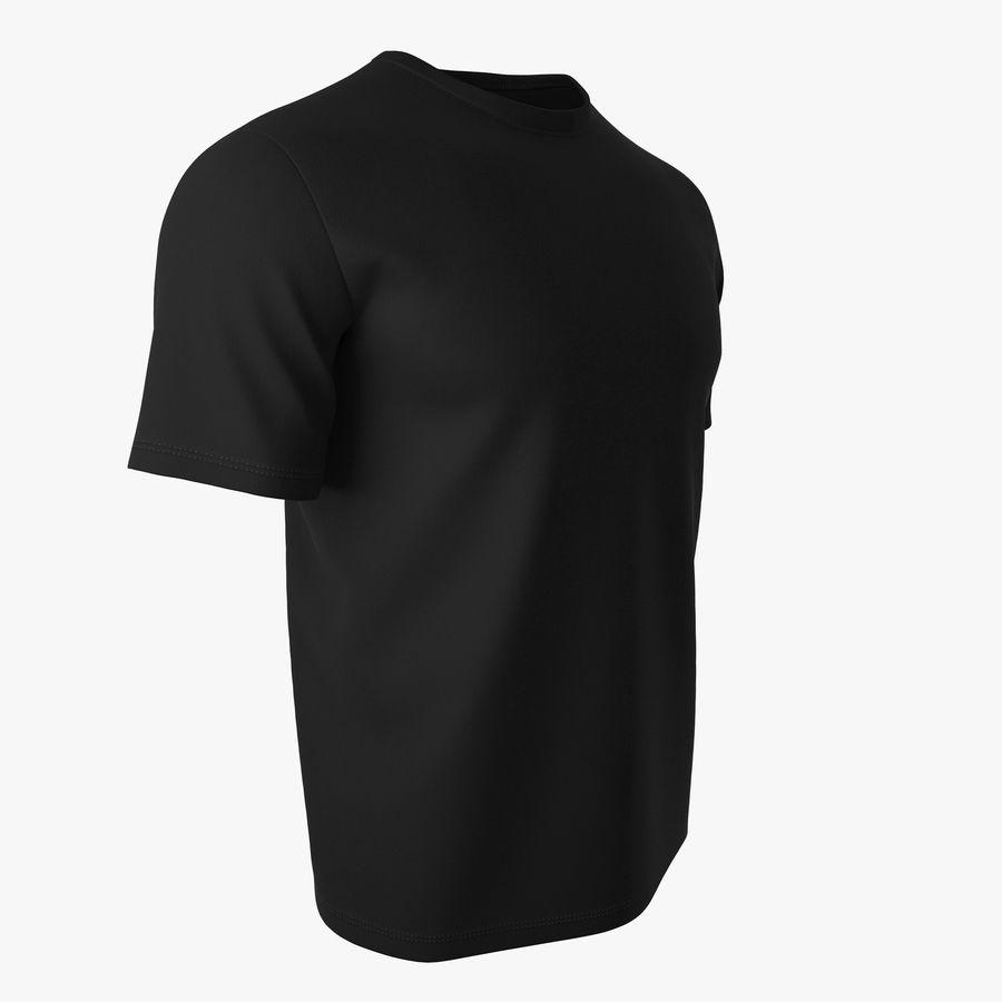 T恤V2(黑色) royalty-free 3d model - Preview no. 2