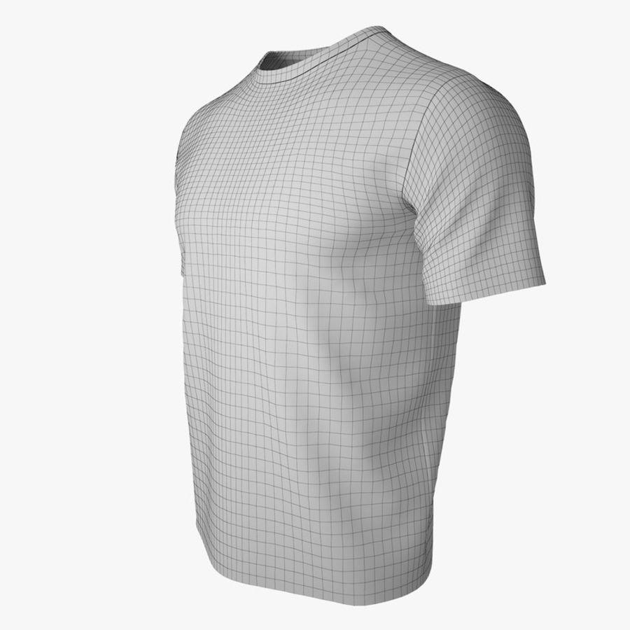 T恤V2(黑色) royalty-free 3d model - Preview no. 17