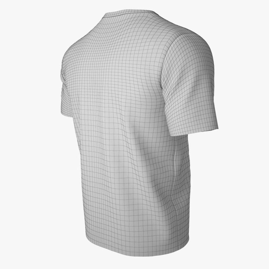 T恤V2(黑色) royalty-free 3d model - Preview no. 13