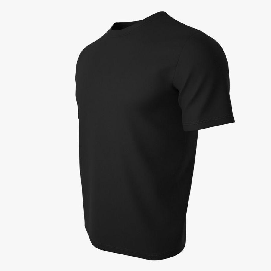T恤V2(黑色) royalty-free 3d model - Preview no. 8
