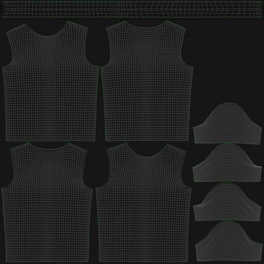 T恤V2(黑色) royalty-free 3d model - Preview no. 18