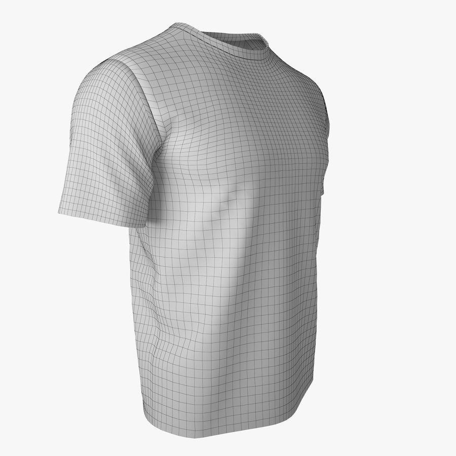 T恤V2(黑色) royalty-free 3d model - Preview no. 11