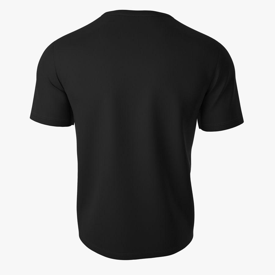 T恤V2(黑色) royalty-free 3d model - Preview no. 5