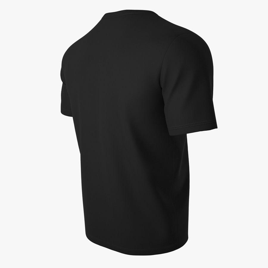 T恤V2(黑色) royalty-free 3d model - Preview no. 4