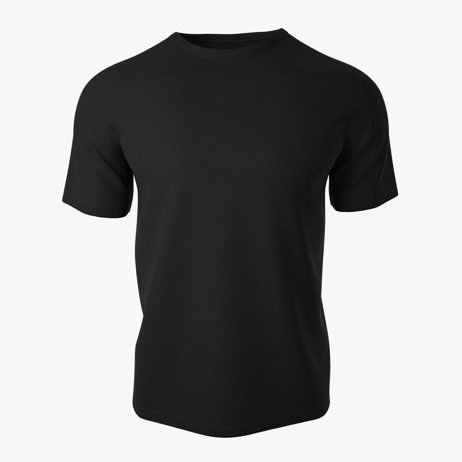 T恤V2(黑色) royalty-free 3d model - Preview no. 1