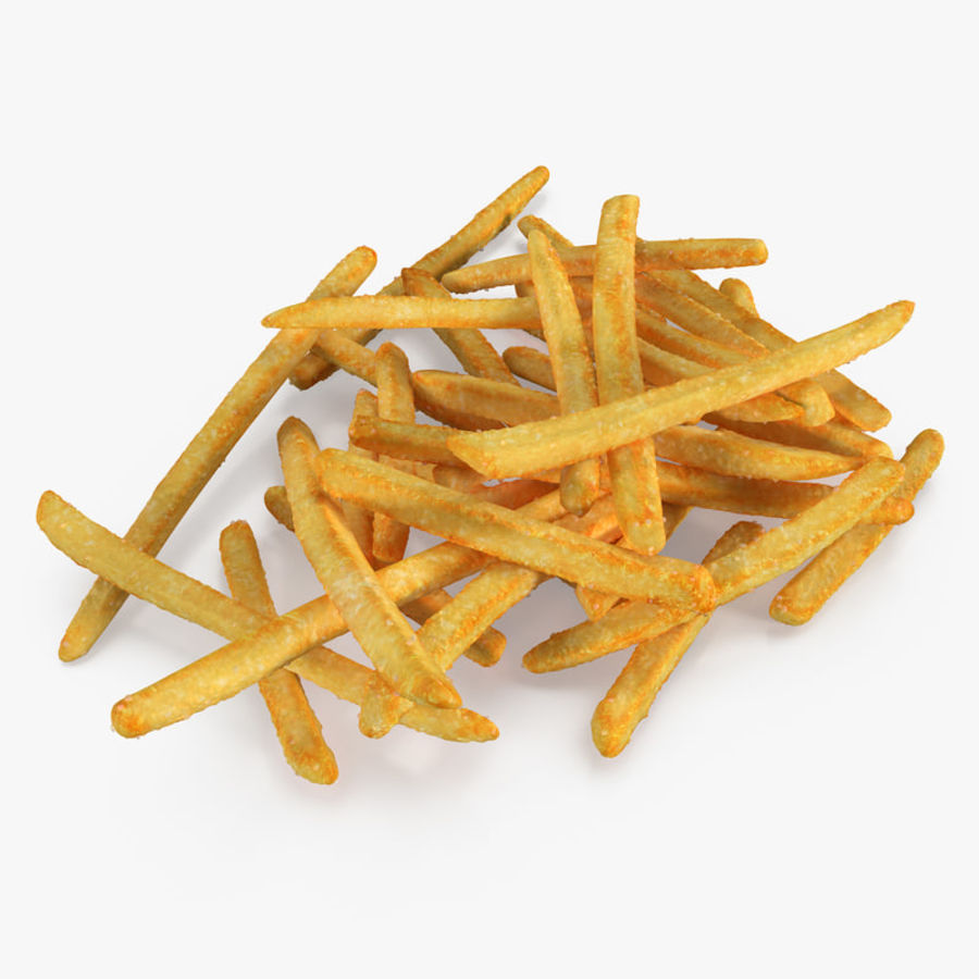 Pile Of French Fries royalty-free 3d model - Preview no. 1