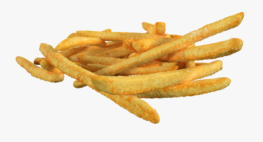 Pile Of French Fries royalty-free 3d model - Preview no. 9