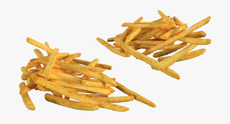 Pile Of French Fries royalty-free 3d model - Preview no. 4