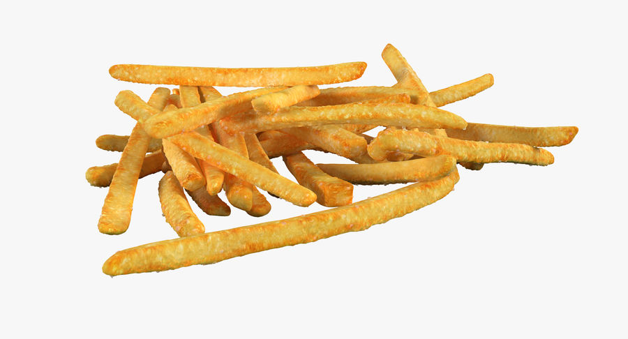 Pile Of French Fries royalty-free 3d model - Preview no. 6