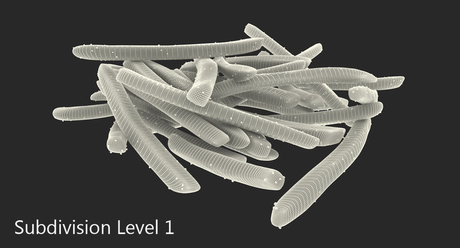 Pile Of French Fries royalty-free 3d model - Preview no. 11