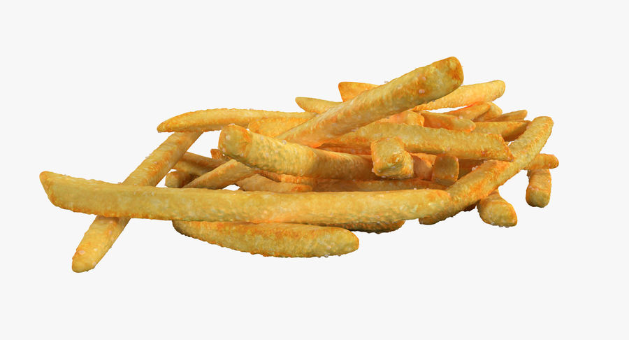 Pile Of French Fries royalty-free 3d model - Preview no. 5
