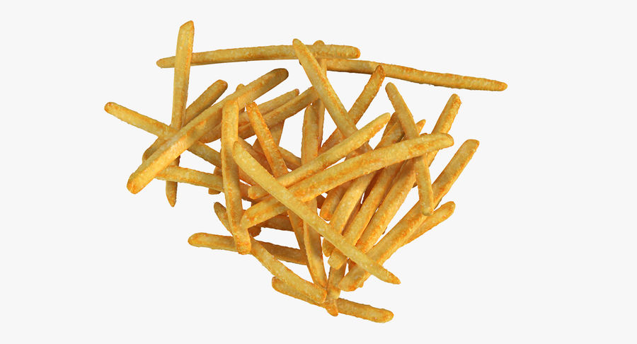 Pile Of French Fries royalty-free 3d model - Preview no. 3