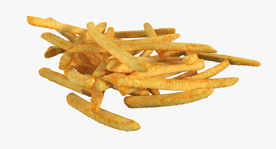 Pile Of French Fries royalty-free 3d model - Preview no. 7