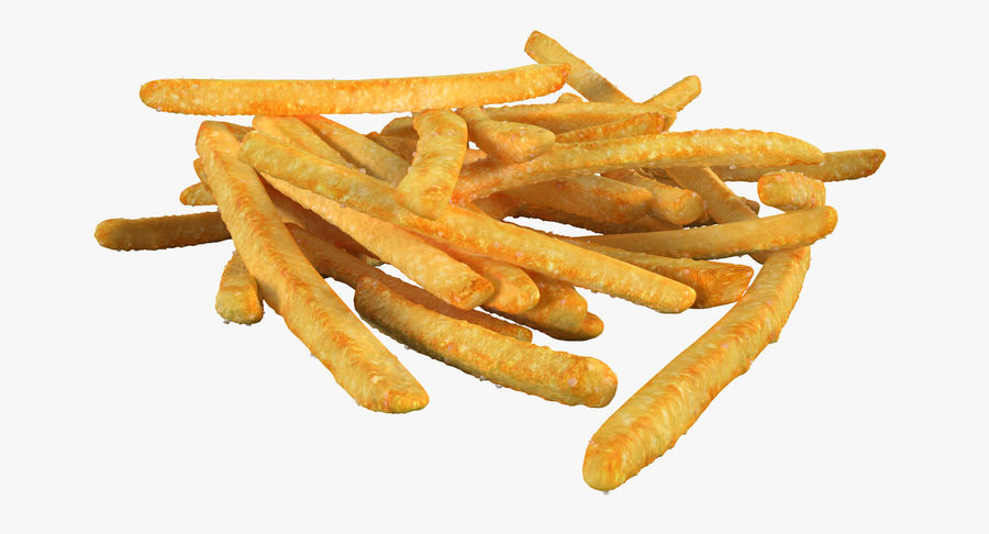 Pile Of French Fries royalty-free 3d model - Preview no. 8