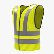 Yellow Traffic Safety Jacket V2 3d model