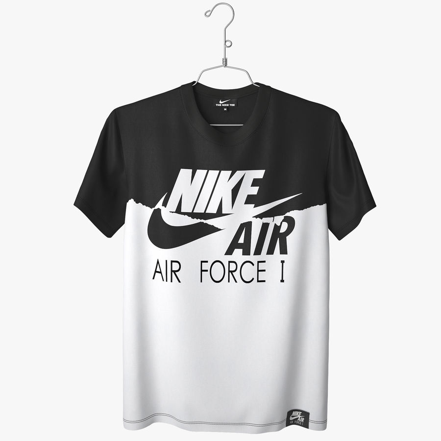 Camiseta Nike Air Force 1 royalty-free modelo 3d - Preview no. 1