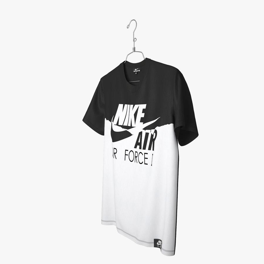 Koszulka T-shirt Nike Air Force 1 royalty-free 3d model - Preview no. 8