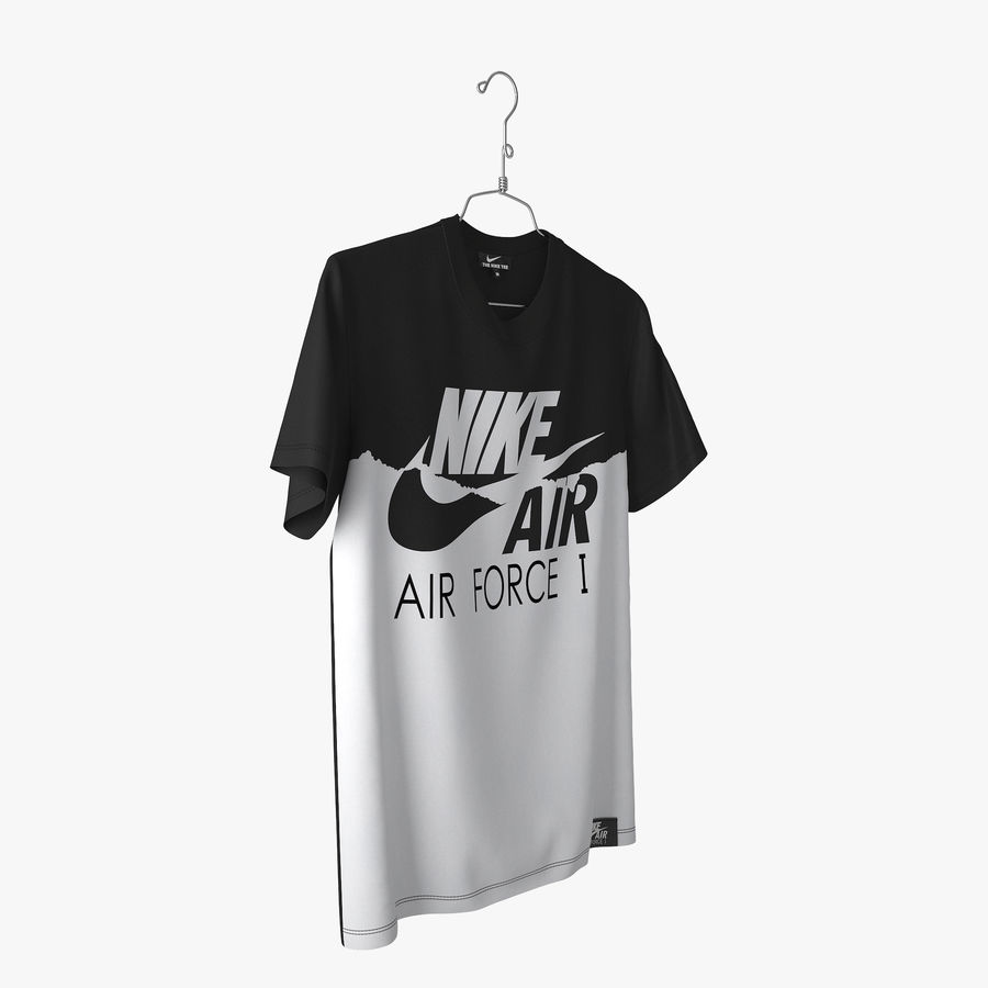 Camiseta Nike Air Force 1 royalty-free modelo 3d - Preview no. 4