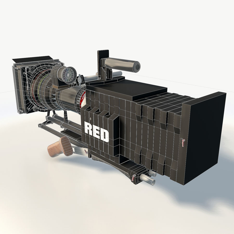 Camera RED epic low poly royalty-free 3d model - Preview no. 5