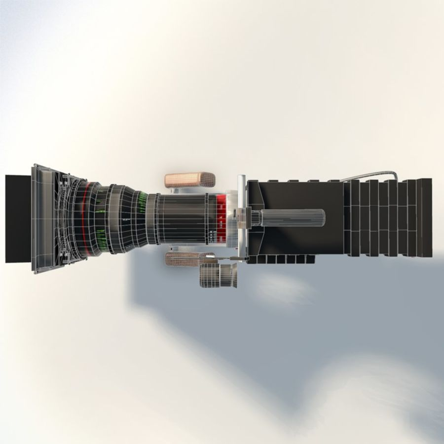 Camera RED epic low poly royalty-free 3d model - Preview no. 11