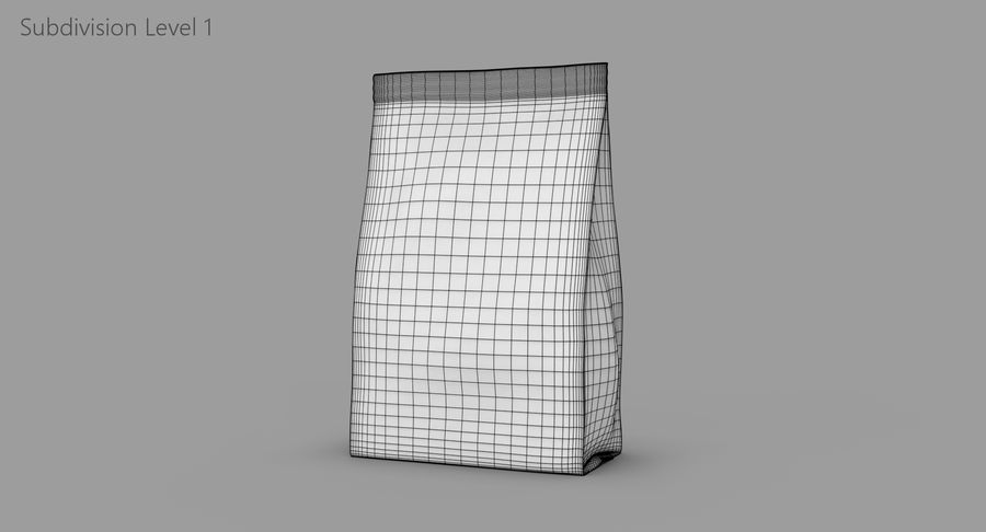 Plastic Bag royalty-free 3d model - Preview no. 9