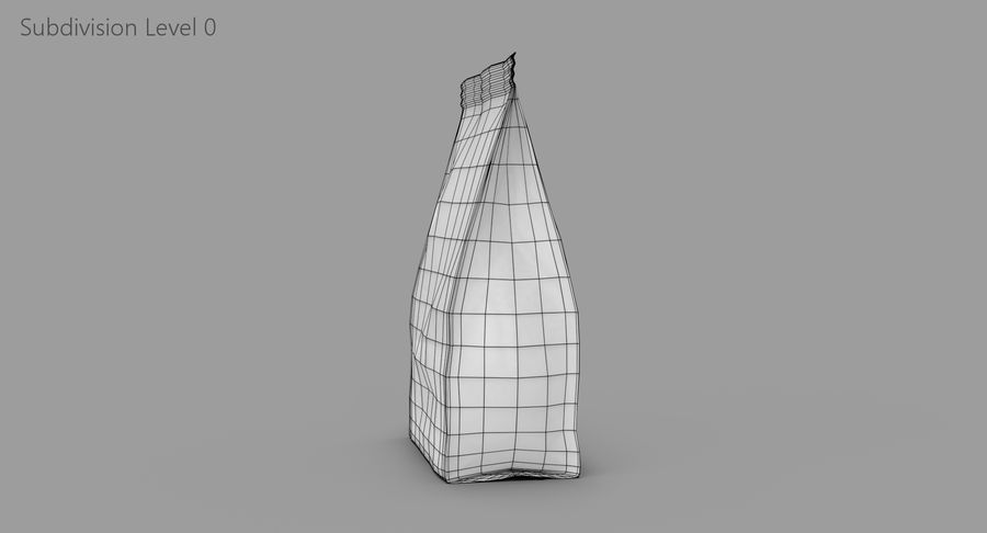 Plastic Bag royalty-free 3d model - Preview no. 10