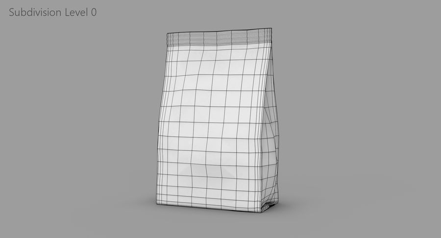 Plastic Bag royalty-free 3d model - Preview no. 8