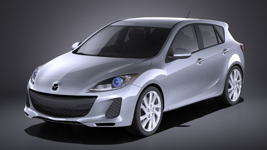 Mazda 3 Hatchback 2013 VRAY Royalty Free 3d Model   Preview No. 1
