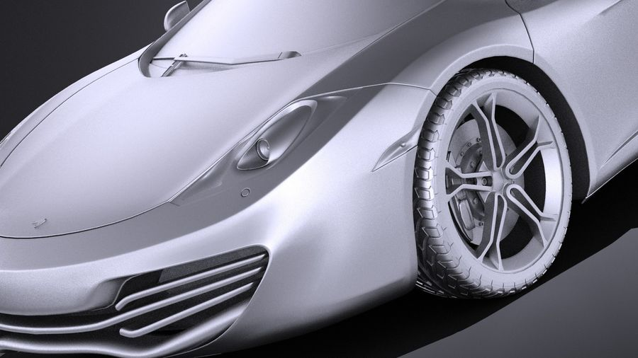 Mclaren MP4 12C Spider 2014 VRAY royalty-free 3d model - Preview no. 10